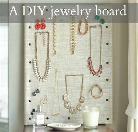 how to make a jewelry board diy jewelry organization board