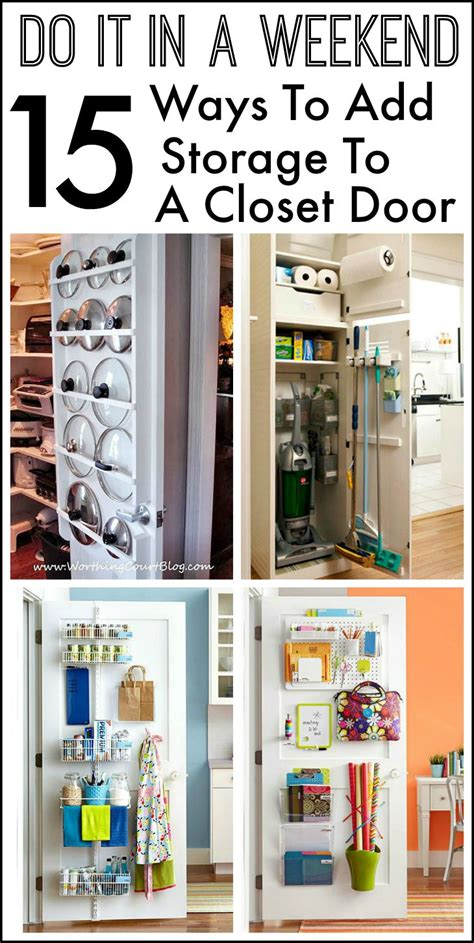 closet door storage ideas 15 ways to use the back of a closet door for storage and