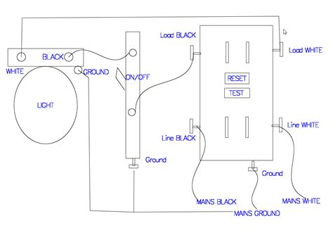 wiring a switch to a light fixture gfci receptacle with a light fixture with an on switch