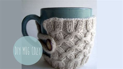 knitted koozie knitting tutorial smocked mug