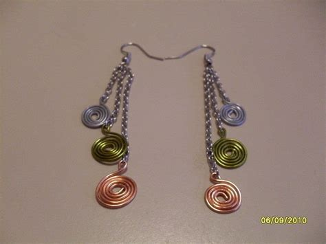 how to make jewelry out of wire spiral wire earrings 183 how to make a pair of wire earrings