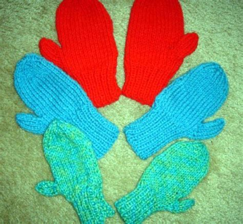mitten knitting pattern 2 needles 2 needle mittens by frugal knitting haus craftsy