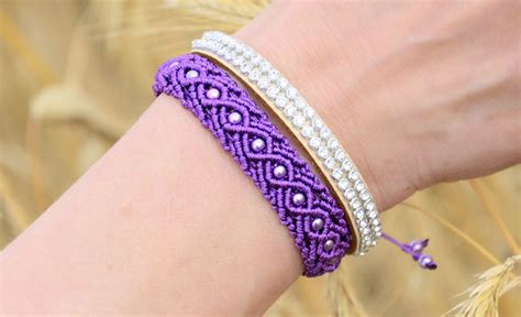 how to make macrame jewelry eternal wave bracelet tutorial