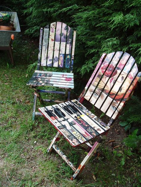 decoupage outdoor furniture decoupage wooden garden chairs chairs for the garden