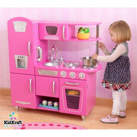 kid craft play kitchen kidkraft vintage bubblegum pink retro pretend play