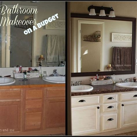 Bathroom Ideas Cheap Makeovers by The 25 Best Budget Bathroom Makeovers Ideas On