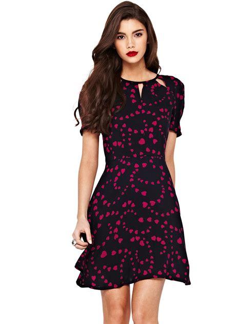 for dress valentines special ax print skater dress