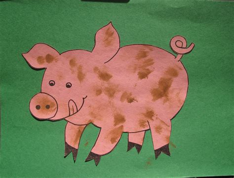 pig craft for farm animals sunflower storytime