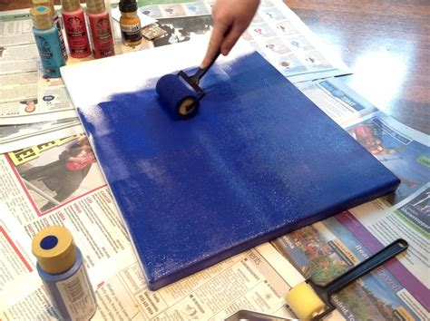 how to paint using acrylic paint on canvas acrylic paint roller canvas artist inspired painting