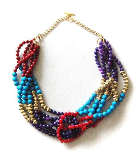 make a statement jewelry diy multi stranded beaded statement necklace reces