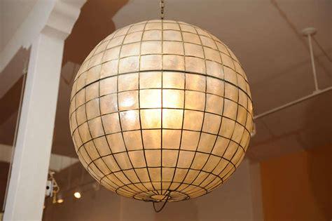 capiz shell ceiling light large capiz shell ceiling light at 1stdibs