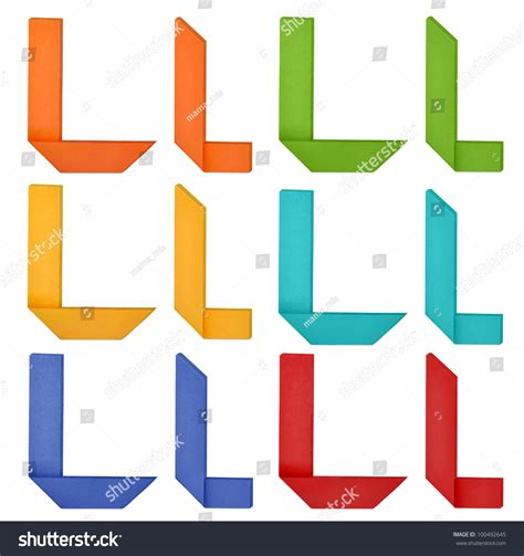 origami letter l set of capital letter and lowercase letter quot l quot in various