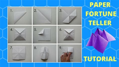 how to make a fortune teller origami step by step how to make a fortune teller