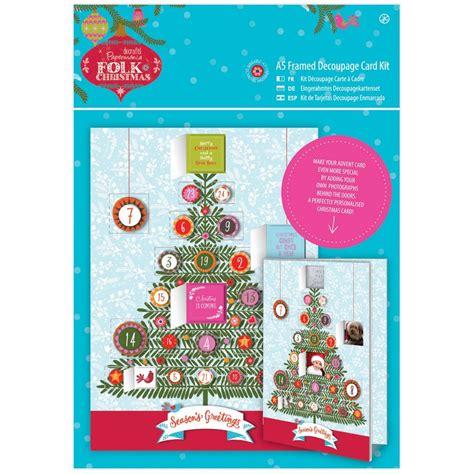 decoupage card kits folk a5 decoupage advent card kit docrafts