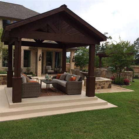 outdoor patio covers design patio covers and pergolas in the woodlands hortus