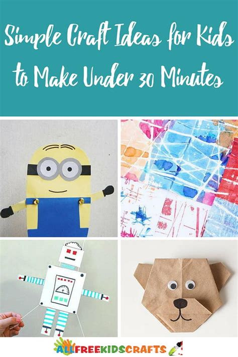 30 minute craft projects 30 simple craft ideas for to make thirty