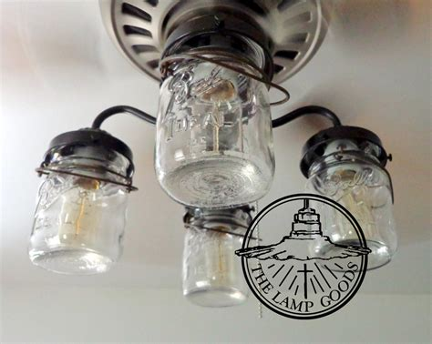 jar ceiling lights jar ceiling fan light kit only with vintage pints