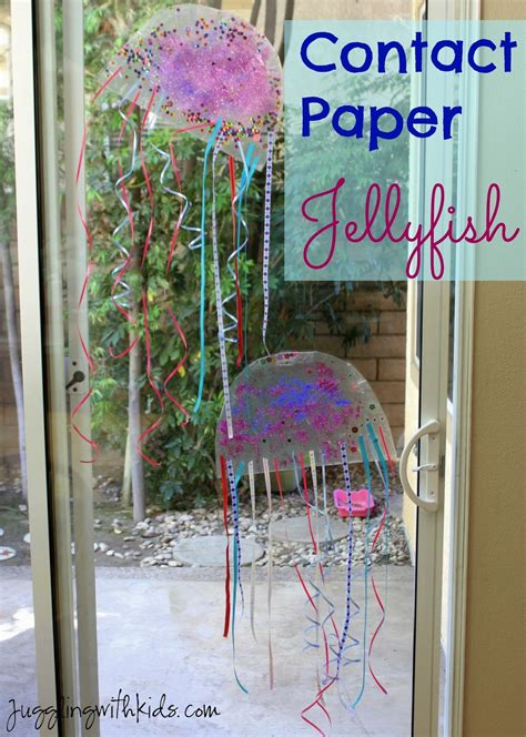 paper jellyfish craft contact paper jellyfish juggling with