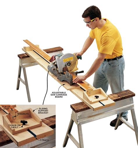 portable woodworking shop small shop tip portable miter saw station