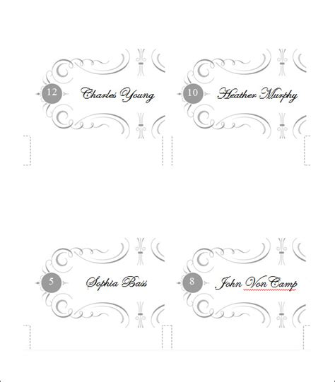 card downloads free templates place card template free premium templates