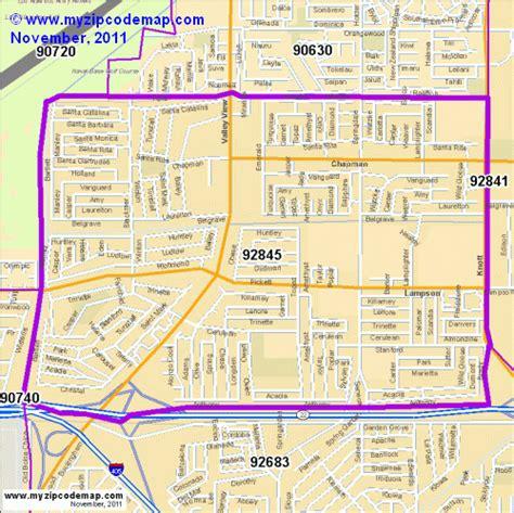 Garden Grove Area Code Zip Code Map Of 92845 Demographic Profile Residential