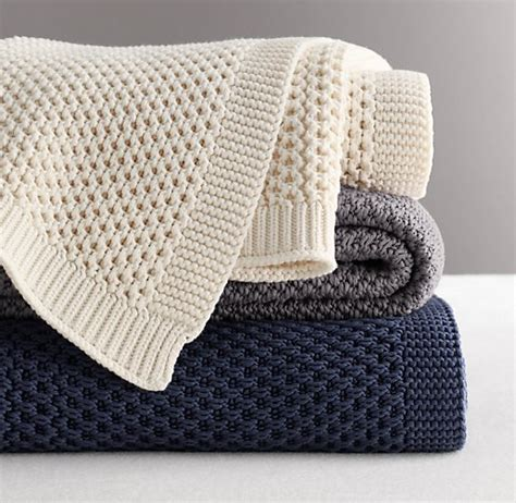 cotton knit blanket chunky knit throw images