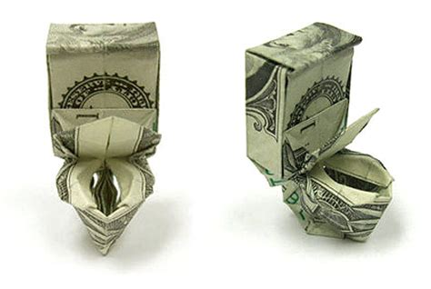 how to make origami out of a dollar bill toilet bowl origami dollar 2016