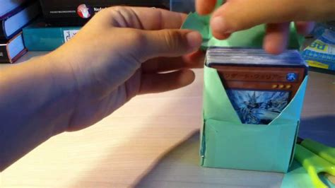 how to make a card deck box yugioh how to make a and easy deckbox