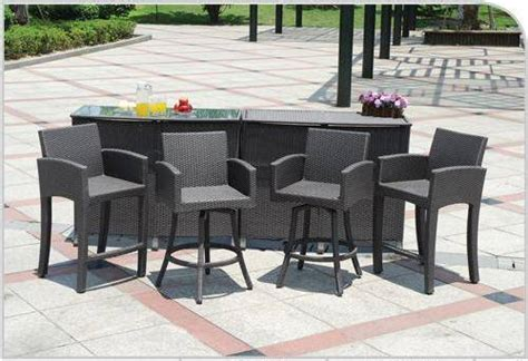 bar set patio furniture outdoor patio furniture bar sets home designs wallpapers