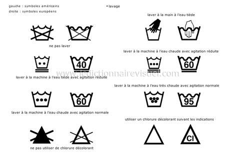 symbole de lavage du linge