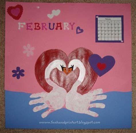 february crafts handprint swans for february handprint calendar 2