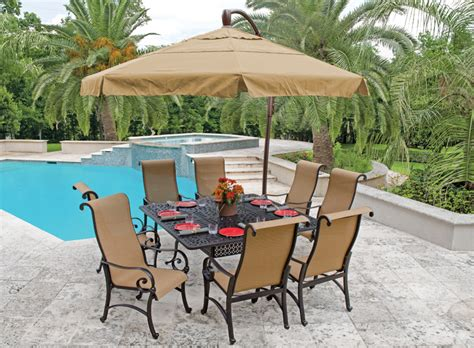 patio furniture umbrellas choosing the best outdoor patio set with umbrella for your