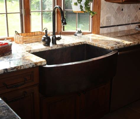 kitchen apron sinks bowed apron sink traditional kitchen sinks cleveland