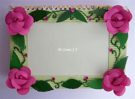 photo frame crafts for cards crafts projects easy diy photoframe tutorial