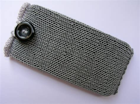 how to knit a phone sock knitted mobile phone sock cover for iphone 4s