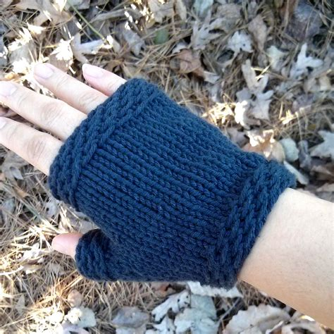 easy knit fingerless gloves patterns knit free easy images