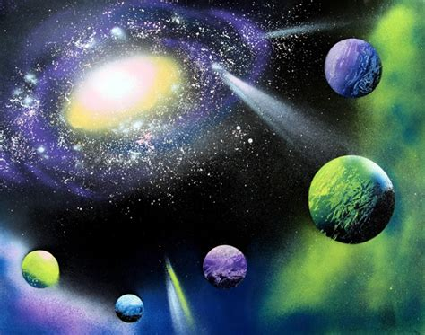 spray paint galaxy how to spray paint planets galaxy a of rainbow