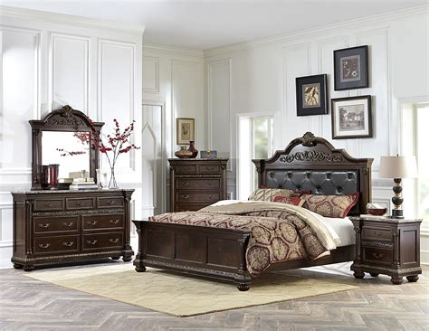 cherry finish bedroom furniture 4 pc homelegance russian hill bedroom set in cherry finish