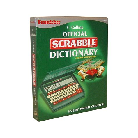 scrabble dictinary franklin scm 319 scrabble international ltd