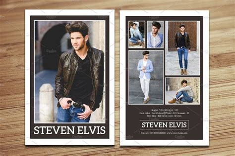 how to make a comp card for free 9 comp card templates free sle exle format