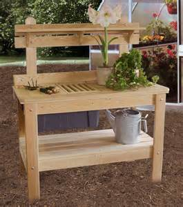 Gardening Workbench Potting Table Ohio Hardwood Furniture