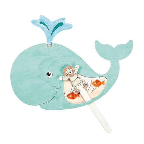 jonah and the whale crafts for color your own jonah the whale pop up puppets craft kit