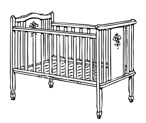 baby crib cot cot clipart clipground