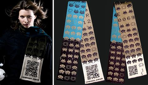 knitting codes space invaders knitted and qr code geekcrafting and