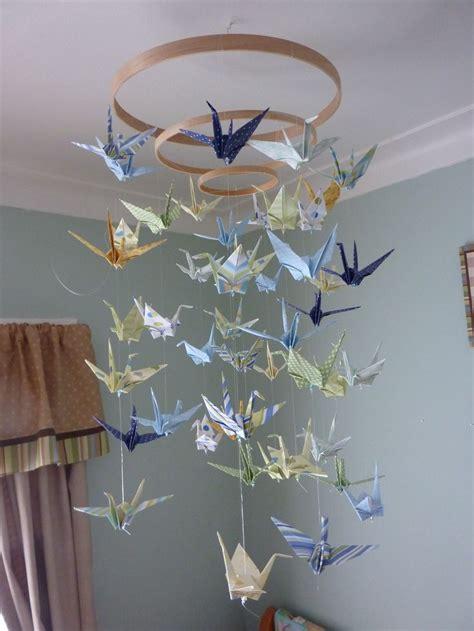 origami crane mobile diy baby origami paper crane mobile chandelier planning