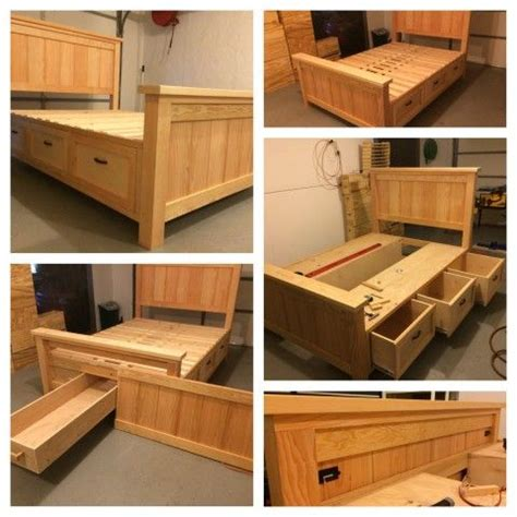 how to make a bed frame with storage 25 best storage beds ideas on diy storage bed