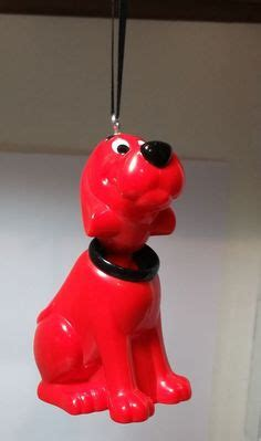 clifford the big ornament striped scarves and ornament on