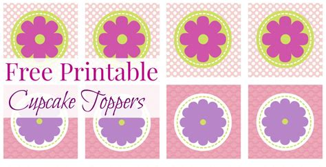 for free to print free printable cupcake toppers