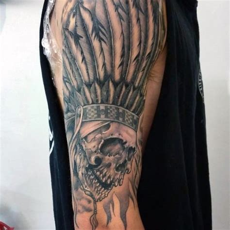 80 indian skull tattoo designs f 252 r m 228 nner cool tinte