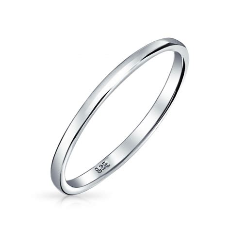 ring bands for jewelry 925 sterling silver wedding band thumb toe ring 2mm